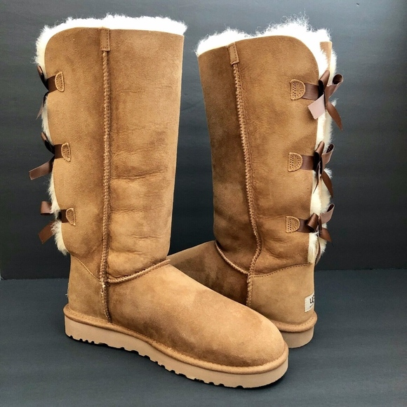 22ac3c3ecf0 UGG Australia Bailey Bow Tall II Boots Chestnut 10 NWT